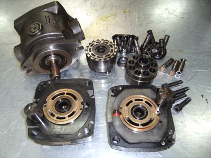 Repair of hydraulic pumps and piston motors