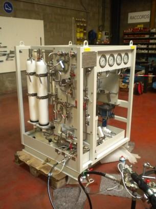 Hydraulic skid unit, hydraulic unit design and manufacture