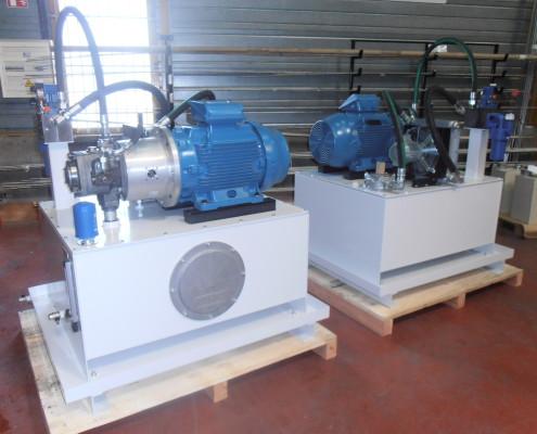 Centrale hydraulique pour ligne de trempe