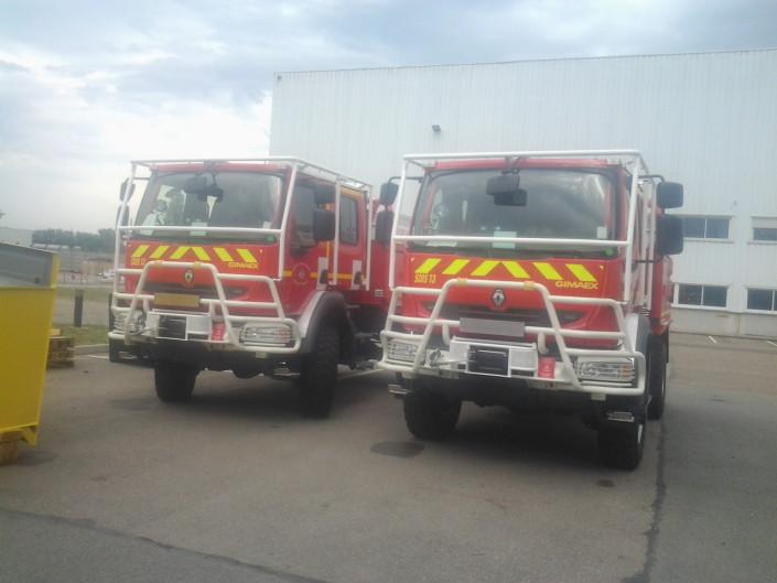 Equipement hydraulique de véhicule de pompier