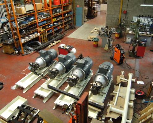 Groupes moto pompe pour extrudeuse aluminium